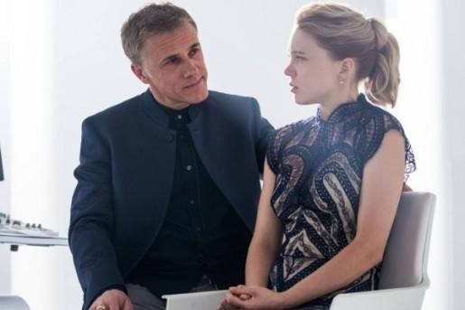 Madeleine Swann (Léa Seydoux) et Oberhauser (Christopher Waltz).