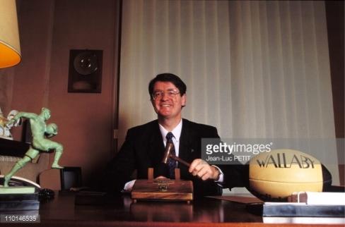 Bernard Lapasset, élu président de la FFR en 1991. (Crédits: Getty Images)