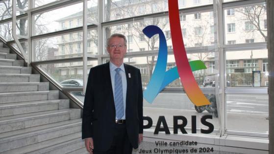 Bernard Lapasset, co-président de Paris 2024, en février 2016 au CNSOF. (Crédits: Christophe Camarans, RFI)
