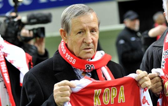 Raymond Kopa, grande figure du Stade de Reims, a toujours continué à suivre son club de cœur.